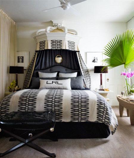 افكار تصاميم غرف نوم بمظلة فوق السرير4