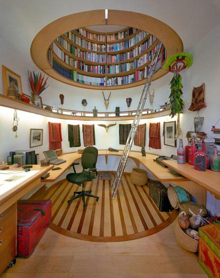 افكار تصاميم مكتبة كتب منزلية مميزة4