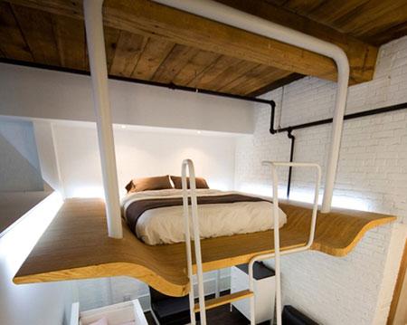تصاميم غرف نوم صغيرة جدا5