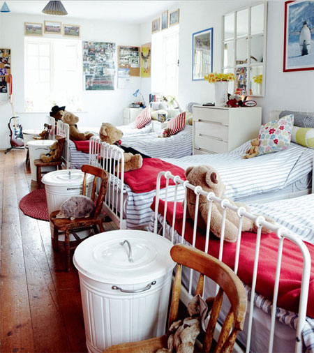 تصاميم غرف اطفال مشتركة ثلاثة اطفال و اكثر1