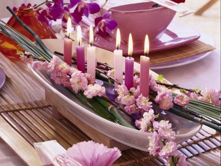 كيفية تزيين الطاولة بتنسيق زهور غريبة2