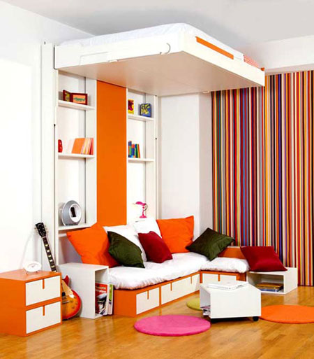 تصاميم غرف نوم صغيرة جدا4