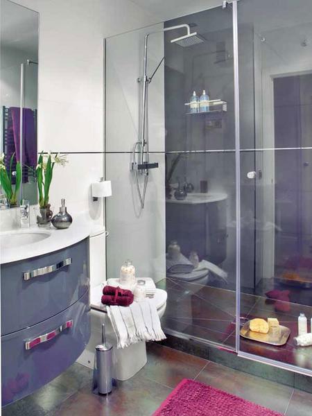 تصميم  ديكور كامل لشقة صغيرة باللون الزهري2