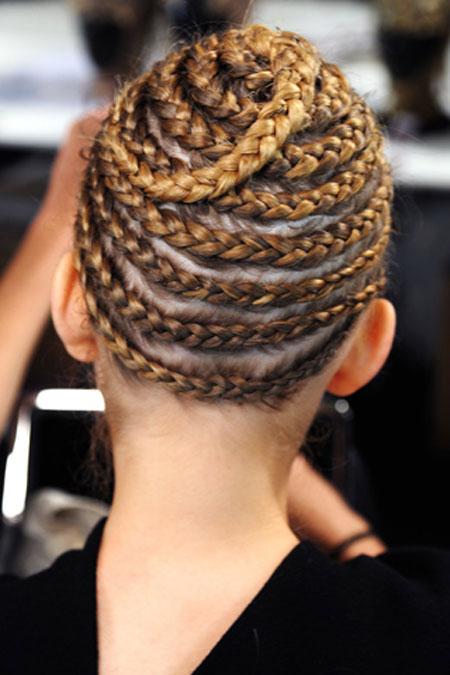 اجمل تسريحات الشعر المزين بضفيرة الجدايل لعام 20122