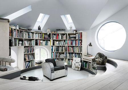 افكار تصاميم مكتبة كتب منزلية مميزة2