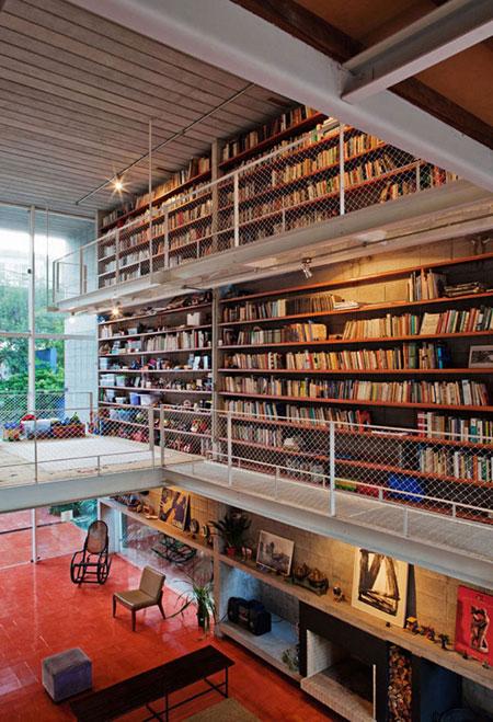 افكار تصاميم مكتبة كتب منزلية مميزة1