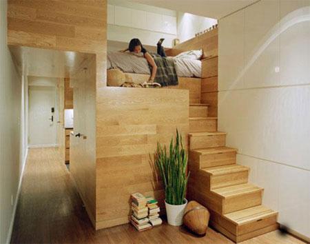 تصاميم غرف نوم صغيرة جدا2