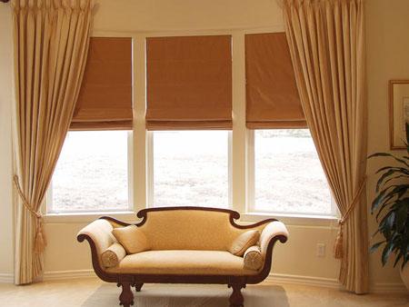 افكار تصاميم ستائر لنوافذ الغرف ذات الجدران المنحنية5