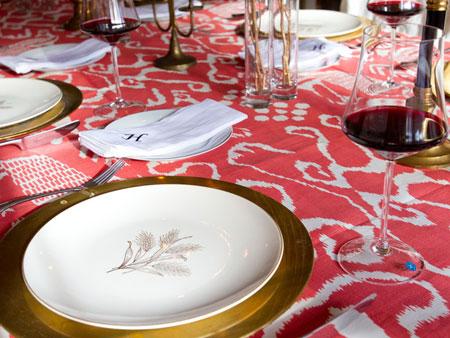 افكار لتزيين طاولة السفرة1