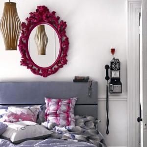 افكار ديكورات مرايا في غرف النوم و المعيشة1