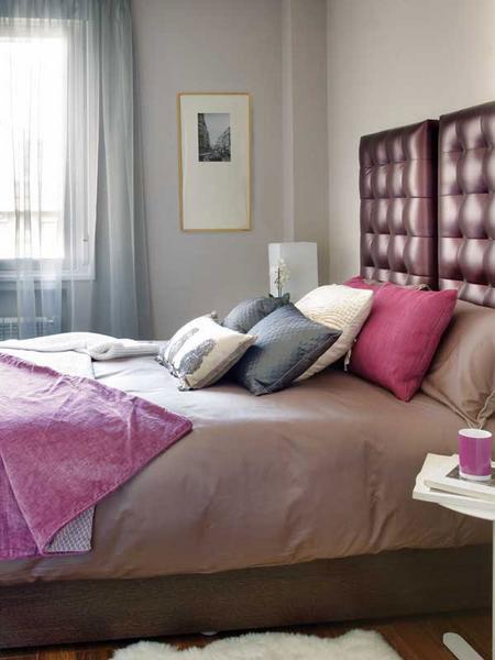 تصميم  ديكور كامل لشقة صغيرة باللون الزهري4