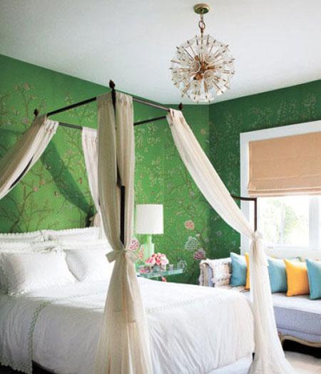 افكار تصاميم غرف نوم بمظلة فوق السرير1
