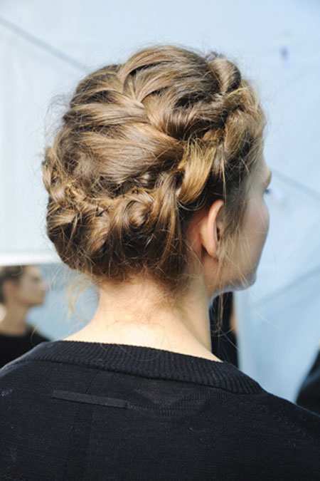 اجمل تسريحات الشعر المزين بضفيرة الجدايل لعام 201210
