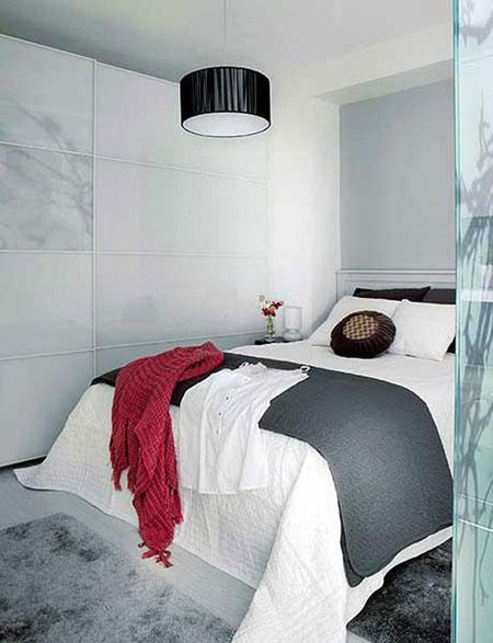 تصاميم غرف نوم بمساحات صغيرة جدا