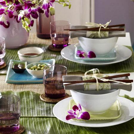 كيفية تزيين الطاولة بتنسيق زهور غريبة13