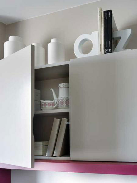 تصميم  ديكور كامل لشقة صغيرة باللون الزهري5