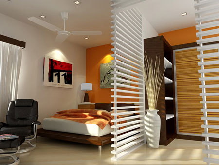 تصاميم غرف نوم صغيرة جدا11
