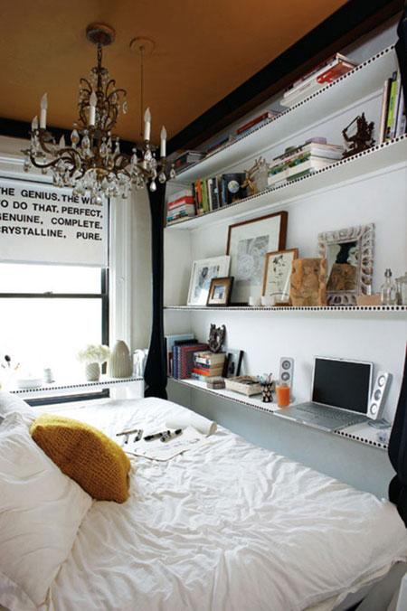 تصاميم غرف نوم صغيرة جدا10
