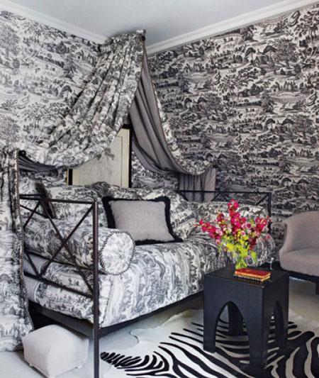 افكار تصاميم غرف نوم بمظلة فوق السرير7