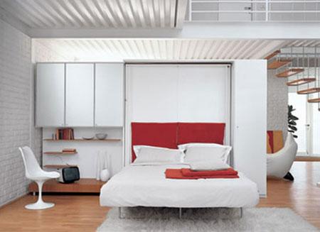 تصاميم غرف نوم صغيرة جدا9
