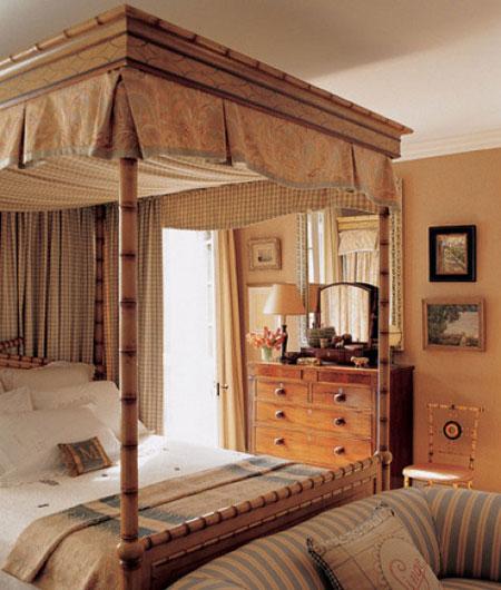 افكار تصاميم غرف نوم بمظلة فوق السرير6