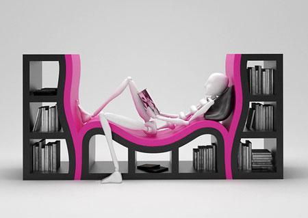 افكار تصاميم رفوف كتب مبتكرة6