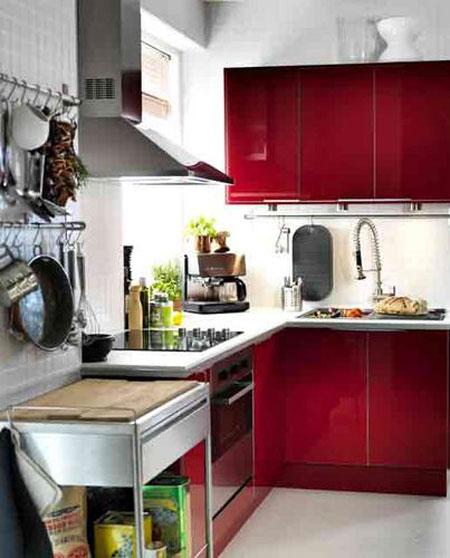 اضافة لون الى الوان المطبخ يضيف لمسة جمالية للمطبخ الصغير ايكيا