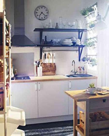 خلق ما يشبه الحديقة للمطبخ لاستغلال المساحة من ايكيا