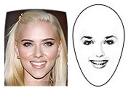الوجه الذي على شكل الماسة