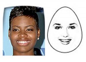الوجه الذي على شكل مثلث