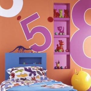 ديكورات لوضع الرفوف في الكوات في غرف الاطفال