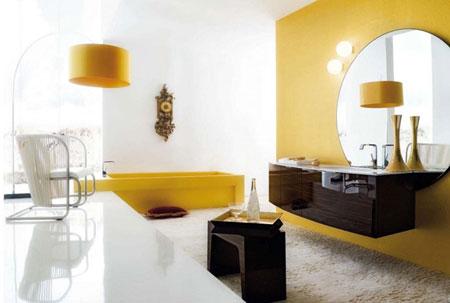 تصاميم حمام باللون الاصفر6