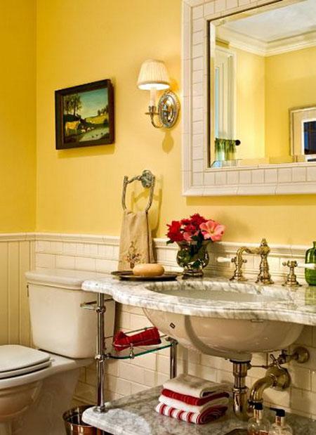 تصاميم حمام باللون الاصفر5