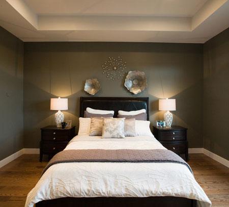 افكار ديكور جدران غرف النوم اللون الغامق11