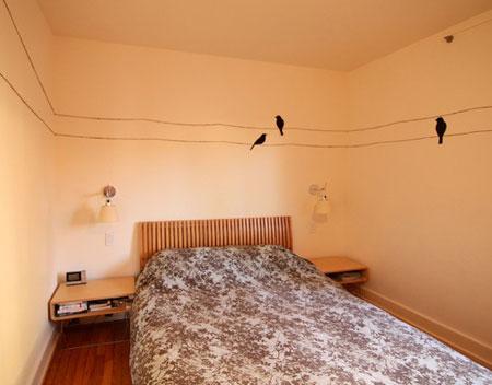 افكار ديكور جدران غرف النوم اللون الفاتح10