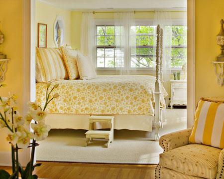 تصاميم غرف نوم لون  اصفر4