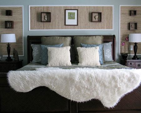 افكار ديكور جدران غرف النوم اللون الغامق9