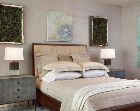 افكار ديكور جدران غرف النوم اللون الفاتح9