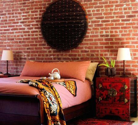 افكار ديكور جدران غرف النوم اللون الغامق8