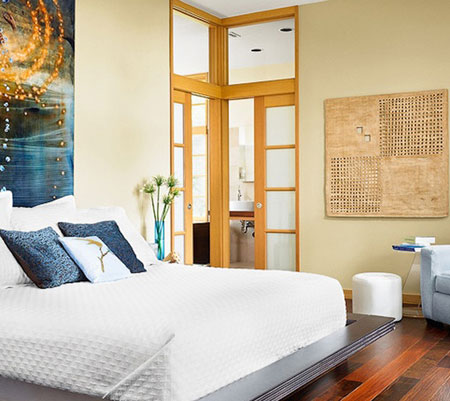 افكار ديكور جدران غرف النوم اللون الفاتح8
