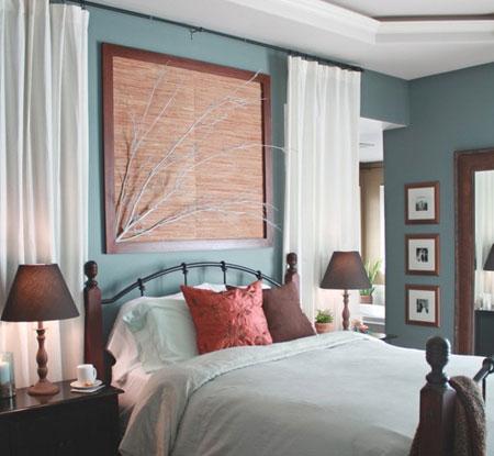 افكار ديكور جدران غرف النوم اللون الفاتح6