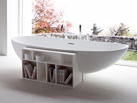 افكار تصاميم مكتبة كتب داخل الحمام1