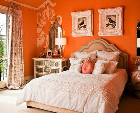 افكار ديكور جدران غرف النوم اللون الغامق7