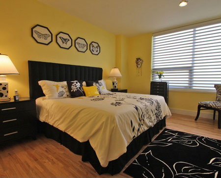 تصاميم غرف نوم لون  اصفر3