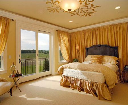 افكار ديكور جدران غرف النوم اللون الفاتح5