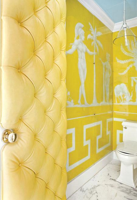 تصاميم حمام باللون الاصفر3