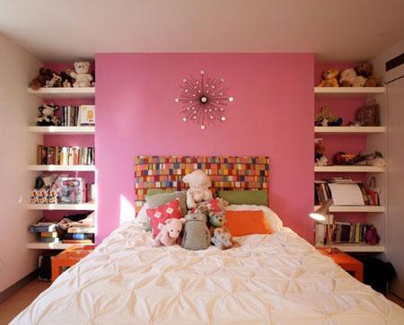 تصاميم غرف نوم لون زهري4