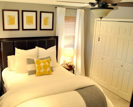 تصاميم غرف نوم لون  اصفر2