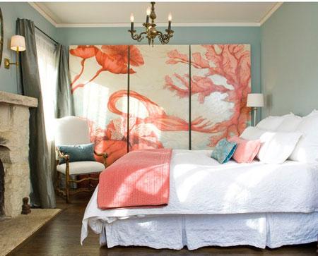 افكار ديكور جدران غرف النوم اللون الفاتح3