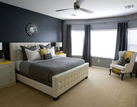 غرف نوم باللون الرمادي الغامق2